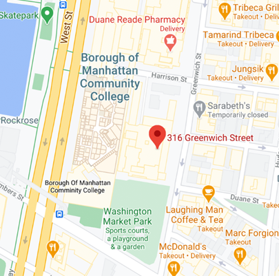 "Map of ""316 Greenwich Street, New York, NY 10013"""
